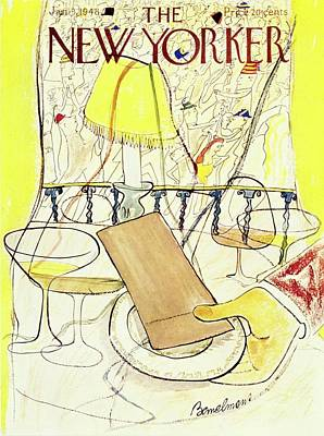 New Years Eve Drawing - New Yorker January 03 1948 by Ludwig Bemelmans