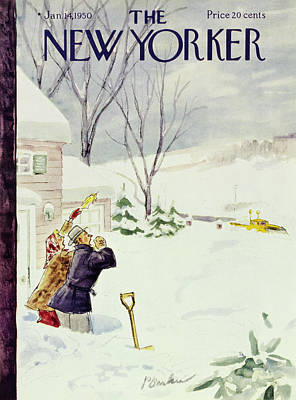 Winter Storm Painting - New Yorker January 14 1950 by Perry Barlow