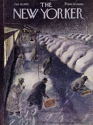 Winter Painting - New Yorker January 19 1952 by Garrett Price
