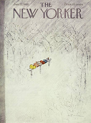 Winter Storm Painting - New Yorker January 22 1955 by Abe Birnbaum