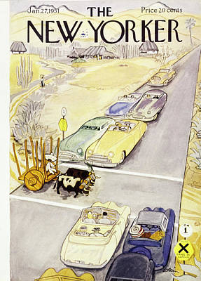 Painting - New Yorker January 27 1951 by Daniel Brustlein
