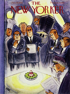 Painting - New Yorker January 29 1955 by Leonard Dove