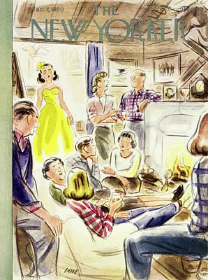 Painting - New Yorker January 7 1950 by Leonard Dove