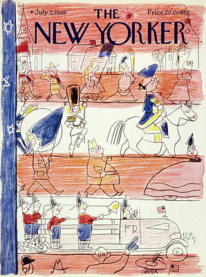 Painting - New Yorker July 2 1949 by Rea Irvin