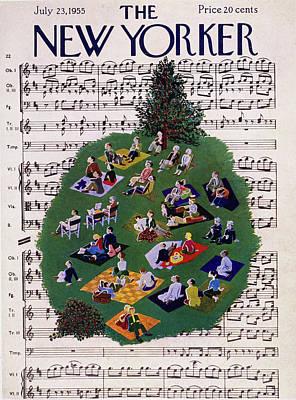 Painting - New Yorker July 23 1955 by Ilonka Karasz