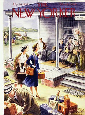 Painting - New Yorker July 24 1954 by Constantin Alajalov