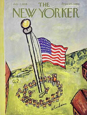 Abe Birnbaum Painting - New Yorker July 5 1958 by Abe Birnbaum