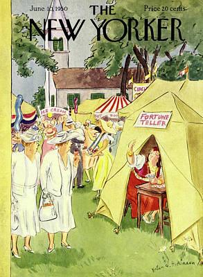 Painting - New Yorker June 10 1950 by Helene E Hokinson