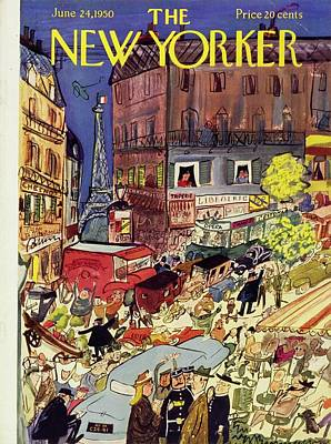 Drawing -  New Yorker June 24 1950 by Ludwig Bemelmans
