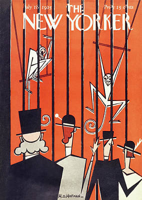 Zoo Painting - New Yorker Magazine Cover Of People Looking by H O Hofman