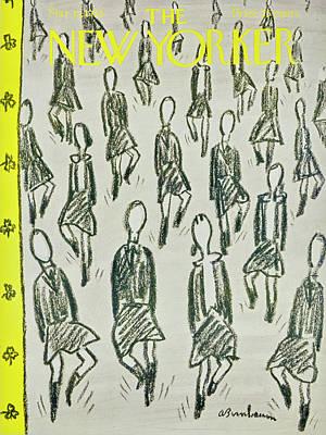 Abe Birnbaum Drawing - New Yorker March 15 1958 by Abe Birnbaum