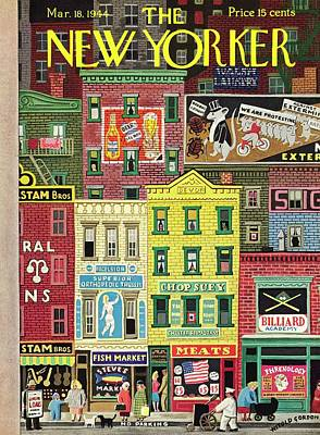 Painting - New Yorker March 18 1944 by Witold Gordon