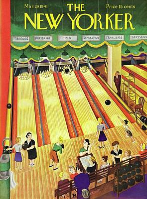 Painting - New Yorker March 29 1941 by Ilonka Karasz