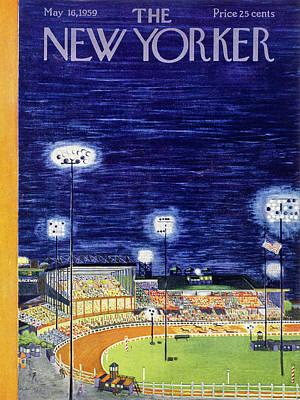 Painting - New Yorker May 16 1959  by Ilonka Karasz