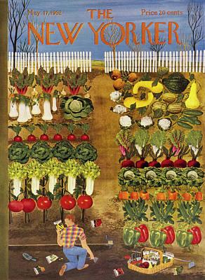 Painting - New Yorker May 17 1952 by Ilonka Karasz