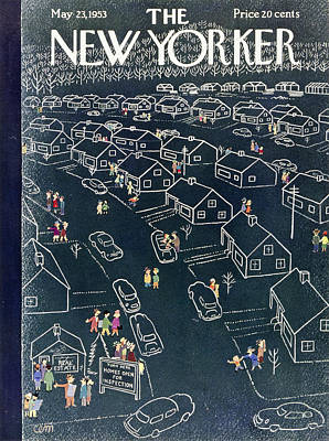 House Painting - New Yorker May 23 1953 by Charles Martin