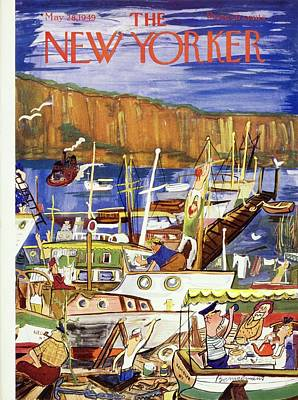Drawing - New Yorker May 28 1949 by Ludwig Bemelmans