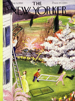 Painting - New Yorker May 6 1950 by Roger Duvoisin