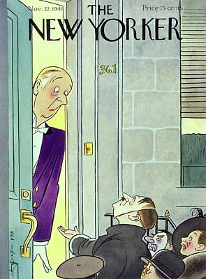 Painting - New Yorker November 22 1941 by Rea Irvin