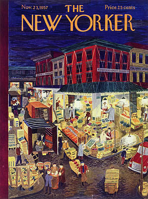 Painting - New Yorker November 23 1957 by Ilonka Karasz
