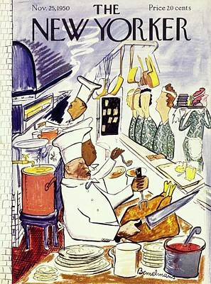 Drawing - New Yorker November 25 1950 by Ludwig Bemelmans