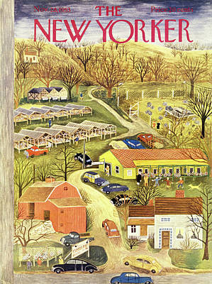 Painting - New Yorker November 28 1953 by Ilonka Karasz