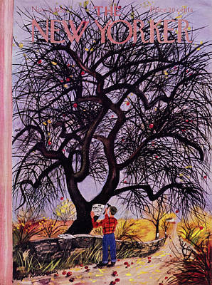 Painting - New Yorker November 5 1955 by Roger Duvoisin