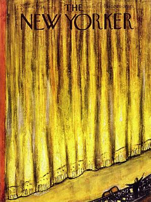 Abe Birnbaum Painting - New Yorker November 6 1954 by Abe Birnbaum