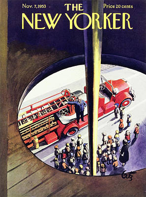 Painting - New Yorker November 7 1953 by Artur Getz