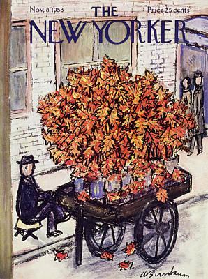 Abe Birnbaum Painting - New Yorker November 8 1958 by Abe Birnbaum