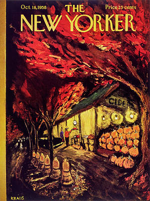 Painting - New Yorker October 18 1958 by Robert Kraus