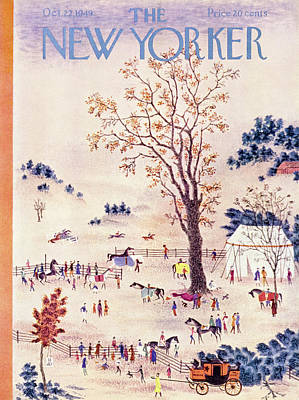 Painting - New Yorker October 22 1949 by Joseph Low