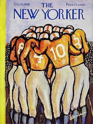 Abe Birnbaum Painting - New Yorker October 25 1958 by Abe Birnbaum