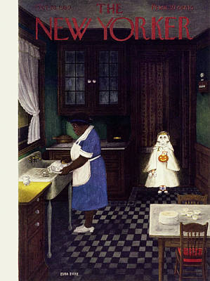 Painting - New Yorker October 28 1950 by Edna Eicke