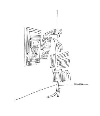 Maze Artist Drawing - New Yorker September 18th, 1965 by Saul Steinberg