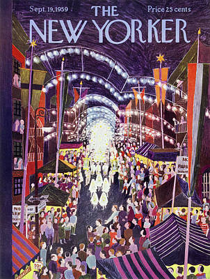 Painting - New Yorker September 19 1959 by Ilonka Karasz