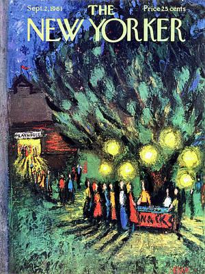 Drawing - New Yorker September 2 1961 by Robert Kraus