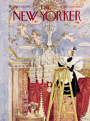 Painting - New Yorker September 24 1955 by Mary Petty