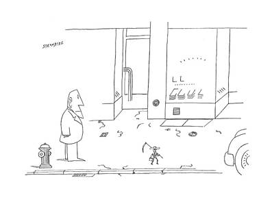 Drawing - New Yorker September 25th 1978 by Saul Steinberg