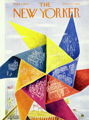 Painting - New Yorker September 3 1949 by Ilonka Karasz