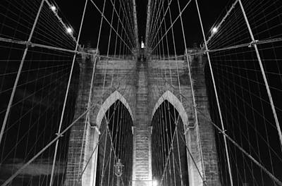 City Photograph - New York's Brooklyn Bridge by David Lobos