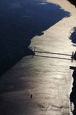 Art Print featuring the photograph New York's East River by Carl Purcell