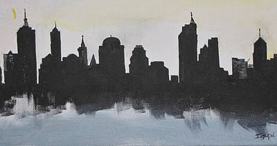 Painting - New Yorks Manhatten by Gary Smith