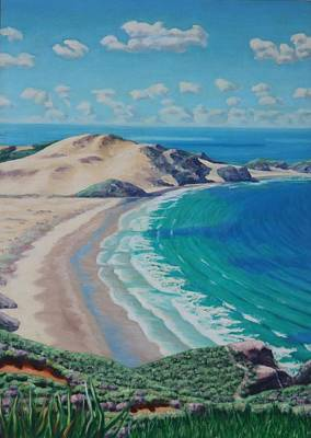 Painting - New Zealand Beach by Allen Kerns