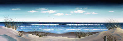 Windblown Painting - New Zealand Brighton Beach By Linelle Stacey by Linelle Stacey