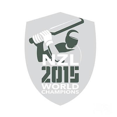 New Zealand Cricket 2015 World Champions Shield Art Print