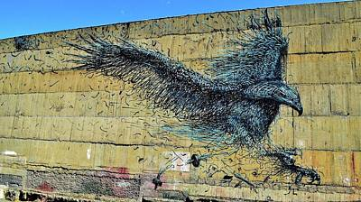 Photograph - New Zealand - Graffiti 3 - The Eagle Has Landed - Dunedin by Jeremy Hall