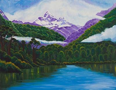 Gustavo Oliveira Painting - New Zealand by Gustavo Oliveira