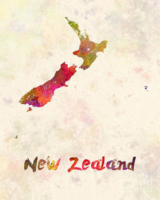 Kiwi Painting - New Zealand In Watercolor by Pablo Romero