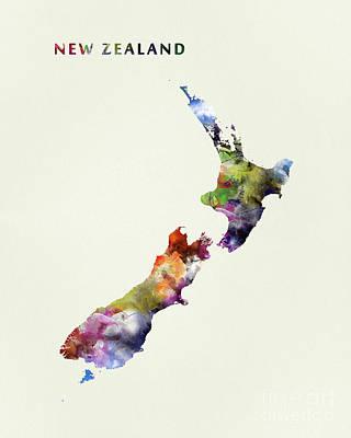 Kiwi Mixed Media - New Zealand by Monn Print